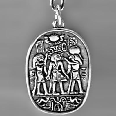 Anhänger Ägyptische Motive in echt Sterling-Silber 925 und Gold, Ketten- oder Schlüssel-Anhänger