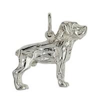 Anhänger Labrador Retriever, Hund in echt Sterling-Silber 925 oder Gold, Ketten- oder Schlüssel-Anhänger