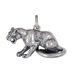 Anhänger Panther, Leopard, Jaguar, Puma in echt Sterling-Silber 925 oder Gold, Ketten- oder Schlüssel-Anhänger