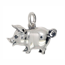 Anhänger Schweine, Charms in Silber & Gold