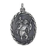 Anhänger Christophorusplakette in echt Sterling-Silber 925 oder Gold, Ketten- oder Schlüssel-Anhänger