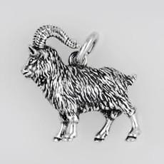 Anhänger Ziege in echt Sterling-Silber oder Gold, Schlüsselanhänger oder Kettenanhänger