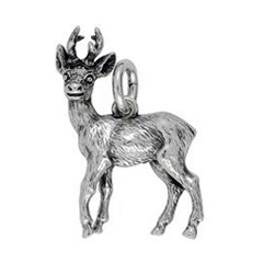 Anhänger Rehe, Charms in Silber & Gold