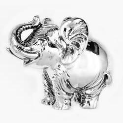 Anhänger Afrikanischer Elefant in echt Sterling-Silber oder Gold, Kettenanhänger oder Schlüssel-Anhänger
