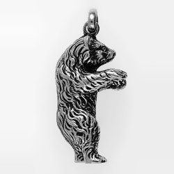 Schlüsselanhänger oder Kettenanhänger Bär stehend in echt Sterling-Silber oder Gold
