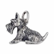 Anhänger Scottish Terrier, Hund in echt Sterling-Silber 925 oder Gold, Ketten- oder Schlüssel-Anhänger