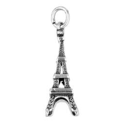 Anhänger Paris, Eiffelturm in echt Sterling-Silber 925 oder Gold, Ketten- oder Schlüssel-Anhänger