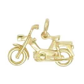 Anhänger Mofa in echt Sterling-Silber 925 oder Gold, Charm, Ketten- oder Bettelarmband-Anhänger