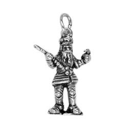 Anhänger Aachen, Kaiser Karl der Große in echt Sterling-Silber 925 oder Gold, Charm, Ketten- oder Schlüssel-Anhänger