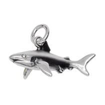 Anhänger Hai in echt Sterling-Silber oder Gold, Charm, Kettenanhänger oder Bettelarmband-Anhänger