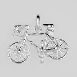 Anhänger Rennrad in echt Sterling-Silber 925 oder Gold, Ketten- oder Schlüssel-Anhänger