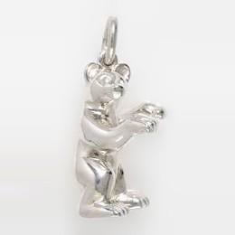 Anhänger Bär in echt Sterling-Silber 925, Schlüsselanhänger oder Kettenanhänger
