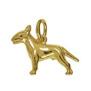 Anhänger Bull Terrier, Hund in echt Sterling-Silber 925 oder Gold, Charm, Ketten- oder Bettelarmband-Anhänger