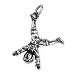 Anhänger Düsseldorfer Radschläger in echt Sterling-Silber 925 oder Gold, Ketten- oder Schlüssel-Anhänger
