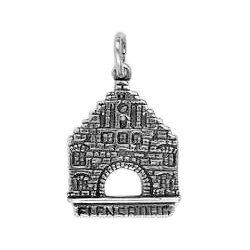 Anhänger Flensburg, Nordertor in echt Sterling-Silber 925 oder Gold, Charm, Ketten- oder Schlüssel-Anhänger