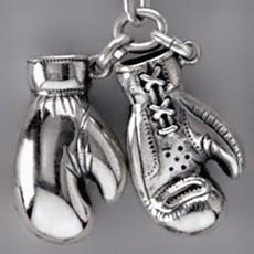 Anhänger Boxhandschuhe in echt Sterling-Silber oder Gold, Ketten- oder Schlüssel-Anhänger