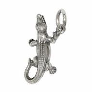 Anhänger Krokodil in echt Sterling-Silber 925 oder Gold, Charm, Ketten- oder Bettelarmband-Anhänger
