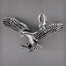 Anhänger Adler ausgebreitete Flügel in echt Sterling-Silber oder Gold, Ketten- oder Schlüssel-Anhänger
