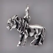 Anhänger Pony in echt Sterling-Silber 925 oder Gold, Charm, Ketten- oder Bettelarmband-Anhänger