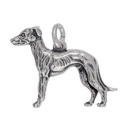 Anhänger Windhund in echt Sterling-Silber 925 oder Gold, Ketten- oder Schlüssel-Anhänger