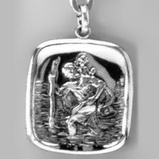 Anhänger Sankt Christophorus in echt Sterling-Silber 925 oder Gold, Ketten- oder Schlüssel-Anhänger
