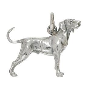 Anhänger Hund, Dalmatiner in echt Sterling-Silber 925 oder Gold, Ketten- oder Schlüssel-Anhänger