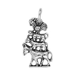 Anhänger Bremen, Stadtmusikanten in echt Sterling-Silber 925 oder Gold, Charm, Ketten- oder Bettelarmband-Anhänger