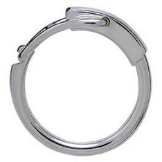 Schlüsselring, Sprengring mit Hebelverschluss, Schlüsselmechanik in Sterling-Silber 925/000 für Anhänger