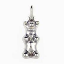 Anhänger Gummibärchen in Silber oder Gold, Charm, Kettenanhänger oder Bettelarmband-Anhänger
