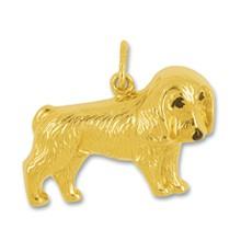 Anhänger Cocker Spaniel, Hund in echt Gelbgold, Charm, Ketten- oder Bettelarmband-Anhänger
