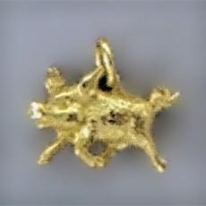 Anhänger Wildschwein in echt Sterling-Silber 925 oder Gold, Charm, Ketten- oder Bettelarmband-Anhänger