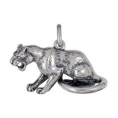 Anhänger Pumas, Charms in Silber & Gold