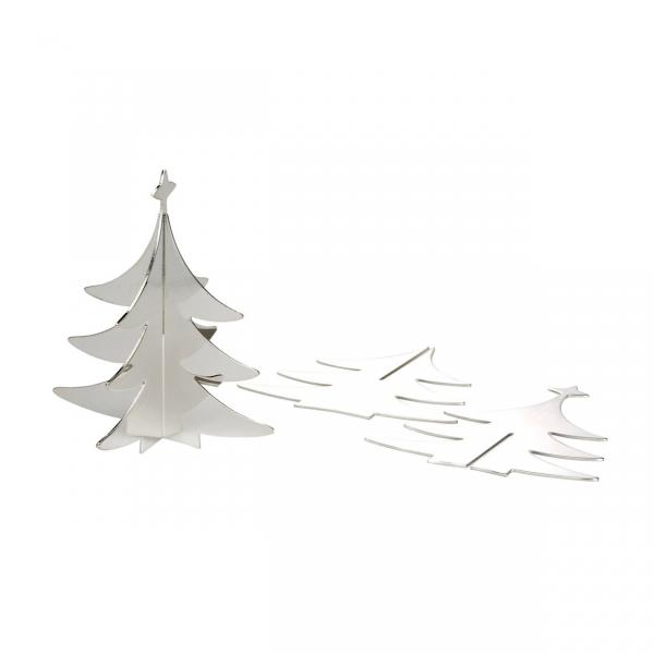 3D-Steck-Tannenbaum versilbert, Xmas Tree to Go