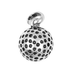 Anhänger Golfball echt Sterling-Silber 925 oder Gold, Charm, Ketten- oder Bettelarmband-Anhänger