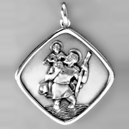 Anhänger Christophorus in Sterling-Silber 925 oder Gold, Ketten- oder Schlüssel-Anhänger