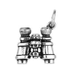 Anhänger Fernglas, Feldstecher in echt Sterling-Silber 925 oder Gold, Charm, Ketten- oder Bettelarmband-Anhänger