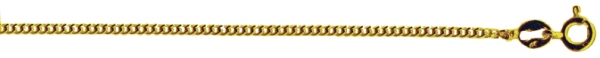 Panzerkette in echt Gelbgold 333, Goldkette für Anhänger oder Charms, Länge 50 cm, Stärke 1,2 mm