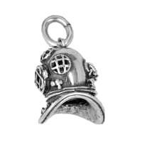 Anhänger Taucherhelm in echt Sterling-Silber 925 oder Gold, Charm, Ketten- oder Bettelarmband-Anhänger