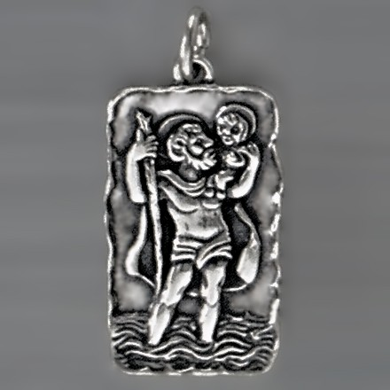 Anhänger Christophorusmedaille in echt Sterling-Silber 925 oder Gold, Ketten- oder Schlüssel-Anhänger