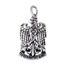 Anhänger Deutschland, Bundesadler in echt Sterling-Silber 925 oder Gold, Charm, Ketten- oder Bettelarmband-Anhänger