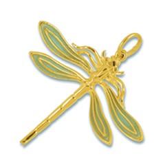Anhänger Libelle in echt Gelbgold 585, Ketten- oder Schlüssel-Anhänger