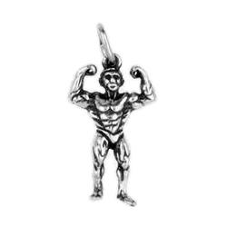 Anhänger Bodybuilding, Kraftsport, Charms in Silber & Gold