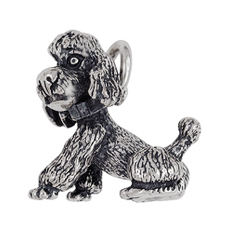 Anhänger Pudel, Hunde, Charms in Silber & Gold
