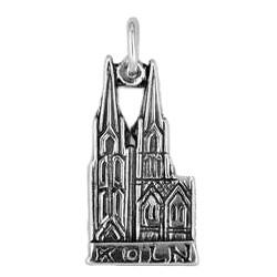 Anhänger Köln, Hohe Domkirche Sankt Petrus in echt Sterling-Silber 925 oder Gold, Charm, Ketten- oder Schlüssel-Anhänger