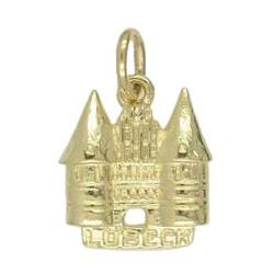 Anhänger Lübeck, Holstentor in echt Sterling-Silber 925 oder Gold, Charm, Ketten- oder Bettelarmband-Anhänger