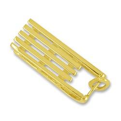 Anhänger Davoser Schlitten in echt Sterling-Silber 925 oder Gold, Charm, Ketten- oder Bettelarmband-Anhänger