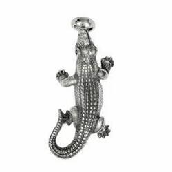 Anhänger Krokodil in echt Sterling-Silber 925 und Gold, Ketten- oder Schlüssel-Anhänger