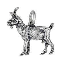 Anhänger Ziege in echt Sterling-Silber 925 oder Gold, Ketten- oder Schlüssel-Anhänger