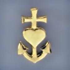 Anhänger Glaube, Liebe, Hoffnung in echt Silber 925 oder Gold, Charm, Ketten- oder Bettelarmband-Anhänger