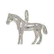 Anhänger Pferd in echt Sterling-Silber 925 oder Gelbgold, Ketten- oder Schlüssel-Anhänger
